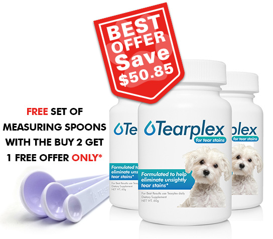Tearplex for Tear Stains Buy Two Get One Free